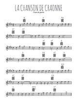 Téléchargez la partition pour saxophone en Mib de la musique guerre-14-18-la-chanson-de-craonne en PDF