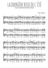 Téléchargez l'arrangement de la partition de la-derniere-rose-de-l-ete en PDF à deux voix