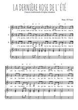 Téléchargez la partition de La dernière rose de l'été en PDF pour 3 voix SSA et piano