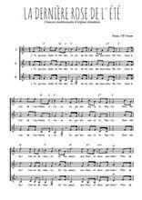 Téléchargez l'arrangement de la partition de la-derniere-rose-de-l-ete en PDF pour trois voix de femmes