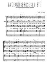 Téléchargez la partition de La dernière rose de l'été en PDF pour 3 voix TTB et piano