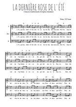 Téléchargez l'arrangement de la partition de la-derniere-rose-de-l-ete en PDF pour trois voix d'hommes