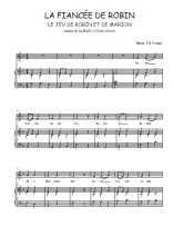 Téléchargez la partition de La fiancée de Robin en PDF pour Chant et piano