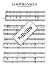 Téléchargez la partition de La morte d'amour en PDF pour Chant et piano