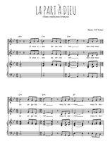 Téléchargez la partition de La part à Dieu en PDF pour 2 voix égales et piano