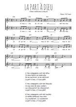 Téléchargez l'arrangement de la partition de Traditionnel-La-part-a-Dieu en PDF à deux voix