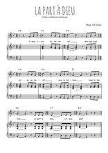 Téléchargez la partition de La part à Dieu en PDF pour Chant et piano