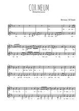 Téléchargez l'arrangement de la partition de roland-de-lassus-cor-meum en PDF à deux voix
