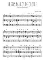 Téléchargez la partition de Le Fils du Roi de gloire en PDF pour Chant et piano