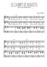 Téléchargez la partition de Le champs de naviots en PDF pour 2 voix égales et piano