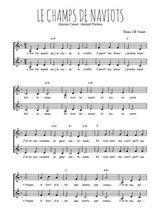 Téléchargez l'arrangement de la partition de Gaston-Coute-Gerard-Pierron-Le-champs-de-naviots en PDF à deux voix