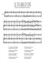 Téléchargez la partition de Le diablotin en PDF pour Chant et piano
