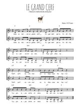 Téléchargez l'arrangement de la partition de Traditionnel-Le-grand-cerf en PDF à deux voix