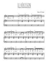 Téléchargez la partition de Le hérisson en PDF pour Chant et piano