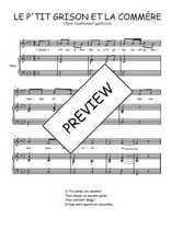 Téléchargez la partition de Le p'tit grison et la commère en PDF pour Chant et piano