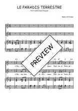 Téléchargez la partition de Le paradis terrestre en PDF pour 2 voix égales et piano