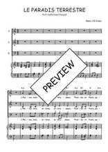 Téléchargez la partition de Le paradis terrestre en PDF pour 3 voix SAB et piano