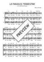 Téléchargez l'arrangement de la partition de Traditionnel-Le-paradis-terrestre en PDF à trois voix