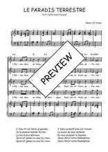 Téléchargez la partition de Le paradis terrestre en PDF pour 4 voix SATB et piano