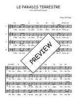 Téléchargez l'arrangement de la partition de Traditionnel-Le-paradis-terrestre en PDF à quatre voix