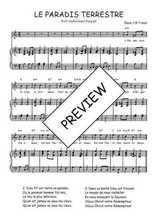 Téléchargez la partition de Le paradis terrestre en PDF pour Chant et piano