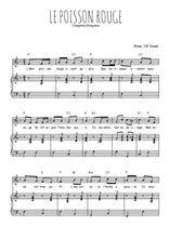Téléchargez la partition de Le poisson rouge en PDF pour Chant et piano