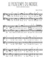 Téléchargez l'arrangement de la partition de Traditionnel-Le-printemps-du-monde en PDF à deux voix