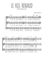 Téléchargez l'arrangement de la partition de Traditionnel-Le-roi-Renaud en PDF à trois voix