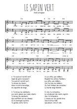 Téléchargez l'arrangement de la partition de Traditionnel-Le-sapin-vert en PDF à deux voix