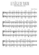 Téléchargez l'arrangement de la partition de Traditionnel-Le-siege-de-Turin en PDF à deux voix