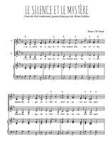 Téléchargez la partition de Le silence et le mystère en PDF pour 3 voix SSA et piano