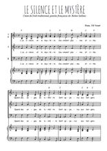 Téléchargez la partition de Le silence et le mystère en PDF pour 4 voix SATB et piano