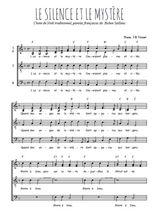 Téléchargez l'arrangement de la partition de noel-le-silence-et-le-mystere en PDF à quatre voix