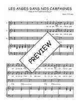 Téléchargez la partition de Les anges dans nos campagnes en PDF pour 3 voix SAB et piano