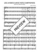 Téléchargez la partition de Les anges dans nos campagnes en PDF pour 4 voix SATB et piano