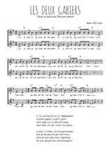 Téléchargez l'arrangement de la partition de Theodore-Botrel-Les-deux-Gabiers en PDF à deux voix