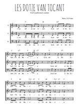 Téléchargez l'arrangement de la partition de Traditionnel-Les-dotze-van-tocant en PDF à trois voix