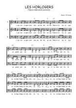 Téléchargez l'arrangement de la partition de Traditionnel-Les-horlogers en PDF à trois voix
