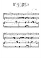 Téléchargez la partition de Les rois Mages en PDF pour 2 voix égales et piano