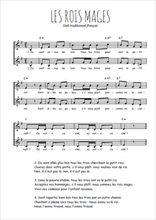Téléchargez l'arrangement de la partition de noel-les-rois-mages en PDF à deux voix