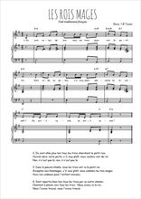 Téléchargez la partition de Les rois Mages en PDF pour Chant et piano