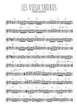 Téléchargez la partition pour saxophone en Mib de la musique quebec-les-vieux-snoros en PDF