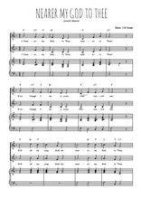 Téléchargez la partition de Nearer my god to thee en PDF pour 2 voix égales et piano