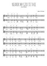 Téléchargez l'arrangement de la partition de nearer-my-god-to-thee en PDF à deux voix