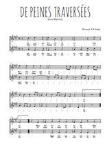 Téléchargez l'arrangement de la partition de Luca-Marenzio-De-peines-traversees en PDF à deux voix