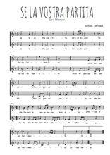 Téléchargez l'arrangement de la partition de Luca-Marenzio-Se-la-vostra-partita en PDF à deux voix