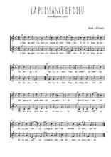 Téléchargez l'arrangement de la partition de Jean-Baptiste-Lully-La-puissance-de-Dieu en PDF à deux voix