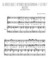 Téléchargez la partition de Le héros que j'attends en PDF pour 2 voix égales et piano