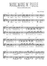 Téléchargez l'arrangement de la partition de Traditionnel-Mangwani-m-pulele en PDF à deux voix
