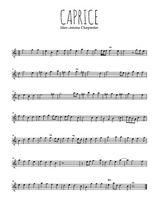Téléchargez la partition de la musique marc-antoine-charpentier-caprice en PDF, pour flûte traversière